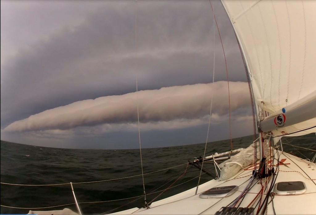 Gewitterfront nach Rundung von Bornholm